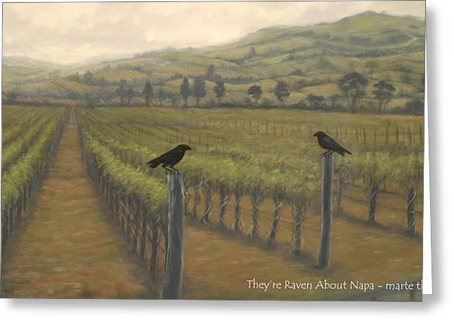 Napa Ravens Greeting Card by Marte Thompson