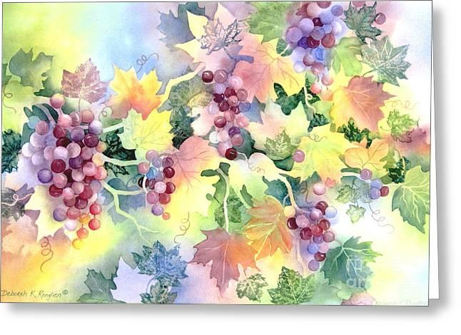 Napa Paintings Greeting Cards - Napa Valley Morning 2 Greeting Card by Deborah Ronglien