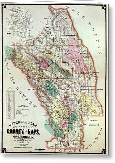 Napa Valley Wine Country - California  1895 Greeting Card by Daniel Hagerman