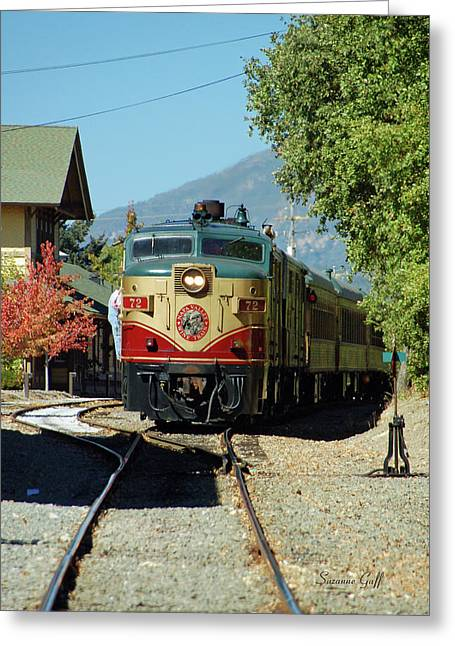 Napa Valley Canvases Greeting Cards - Napa Valley Wine Train No. 72 Greeting Card by Suzanne Gaff