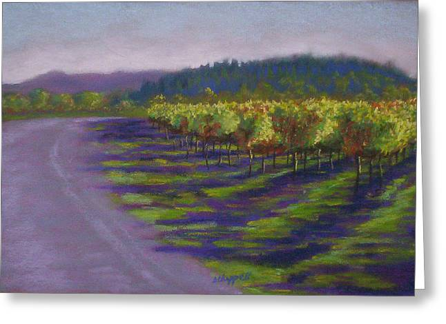Napa Valley Vineyard Pastels Greeting Cards - Napa Vineyard Greeting Card by Becky Chappell