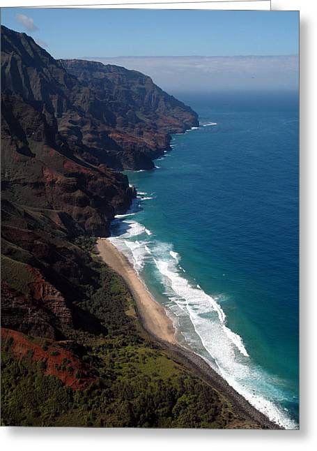 Kathy Schumann Greeting Cards - NaPali Cliffs Greeting Card by Kathy Schumann
