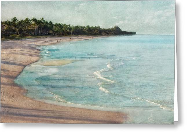 Tropical Beach Greeting Cards - Naples Beach Greeting Card by Kim Hojnacki