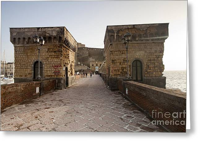 Old Pizza House Greeting Cards - Naples Castle Greeting Card by Andre Goncalves