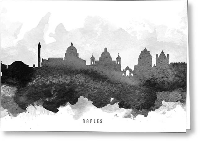 Naples Italy Greeting Cards - Naples Cityscape 11 Greeting Card by Aged Pixel