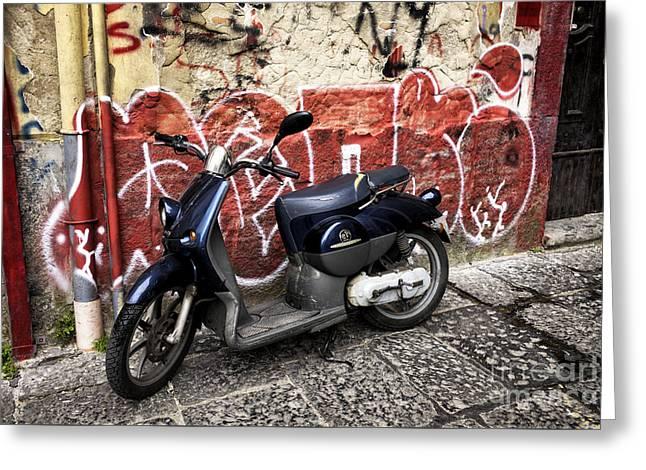 Naples Greeting Cards - Naples Graffiti Ride Greeting Card by John Rizzuto