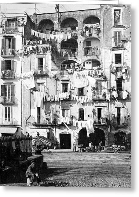 Southern Italy Greeting Cards - Naples Italy - c 1901 Greeting Card by International  Images