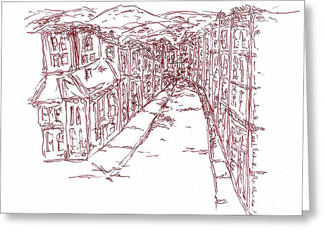 Naples Drawings Greeting Cards - Naples Greeting Card by Pamela Canzano