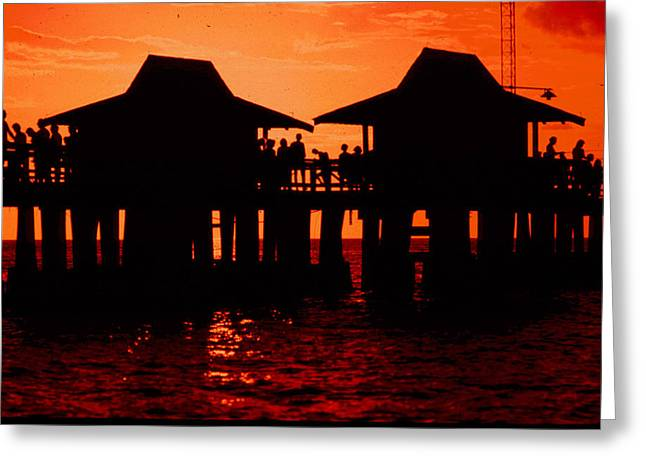 Naples Greeting Cards - Naples Pier Greeting Card by Michael L Kimble