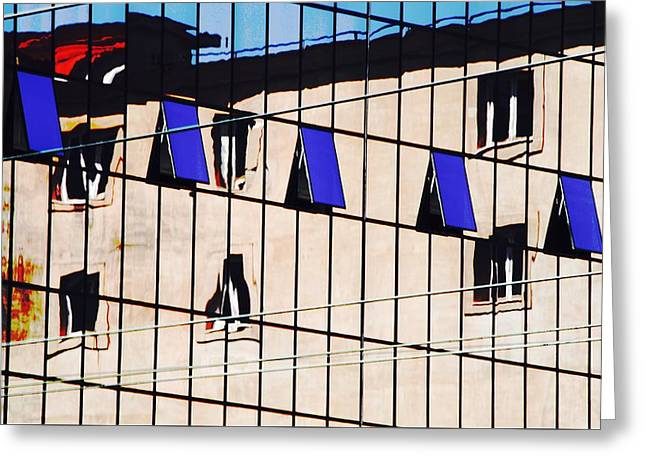 Glass Reflecting Greeting Cards - Naples Squared Greeting Card by David Coleman