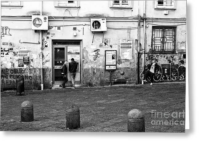 Naples Greeting Cards - Naples Street Scene Greeting Card by John Rizzuto