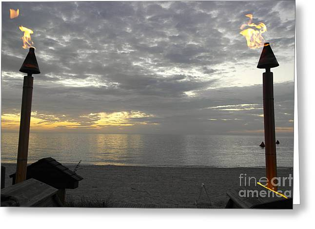 Usa Digital Greeting Cards - Naples Sunset Greeting Card by Casavecchia Photo Art