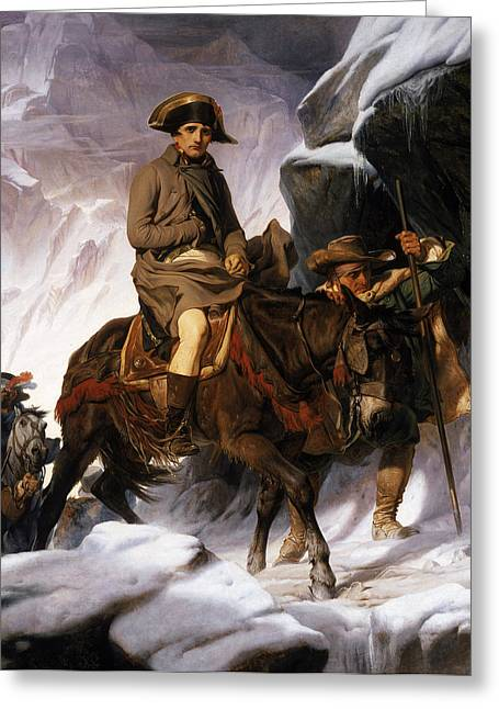French Leaders Greeting Cards - Napoleon Crossing the Alps Greeting Card by Hippolyte Delaroche