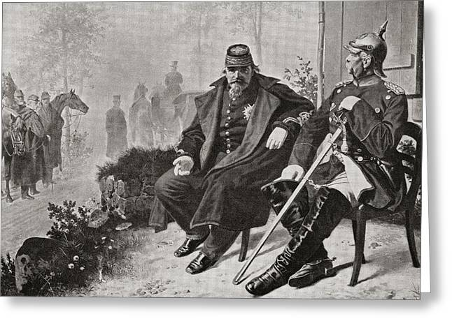 Conversations Drawings Greeting Cards - Napoleon Iii, Left, Having Greeting Card by Ken Welsh