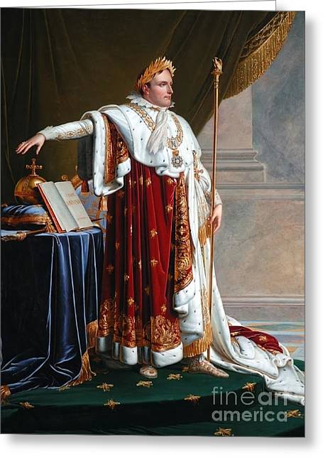 Girodet Greeting Cards - Napoleon in Coronation Robes Greeting Card by MotionAge Designs