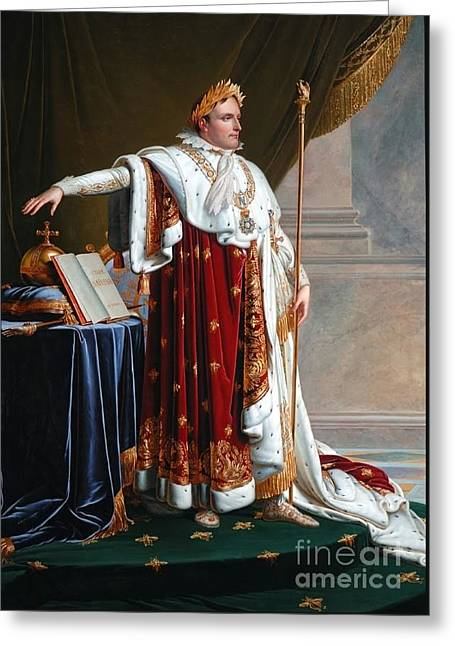 Napoleon In Coronation Robes Greeting Card by MotionAge Designs