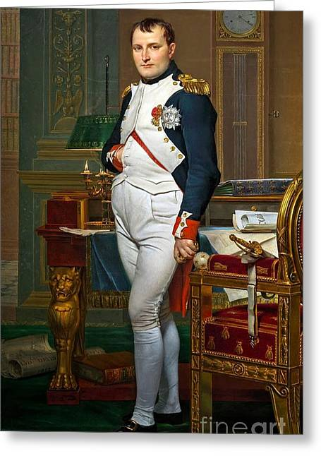 Napoleon In His Study At The Tuileries Greeting Card by Louis David