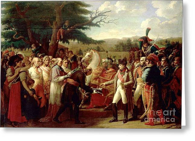 Girodet Greeting Cards - Napoleon Receiving the Keys to Vienna  Greeting Card by MotionAge Designs