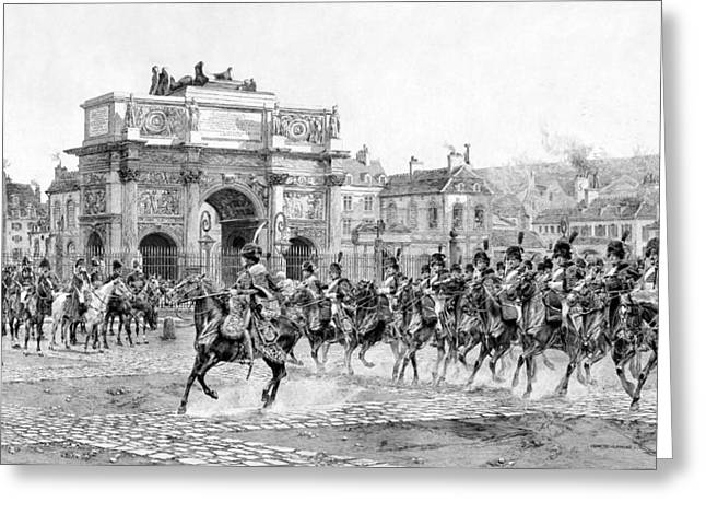 Arc De Triomphe Greeting Cards - Napoleon Reviewing His Troops Greeting Card by War Is Hell Store