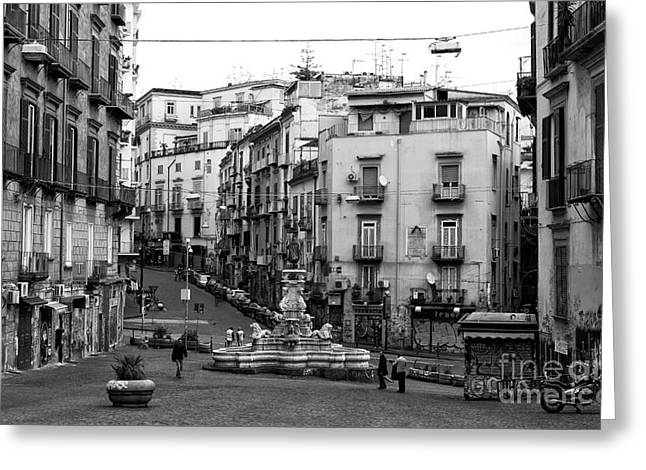 Old Street Greeting Cards - Napoli Day Greeting Card by John Rizzuto