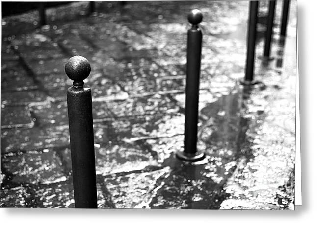 Old Street Greeting Cards - Napoli Wet Street Greeting Card by John Rizzuto