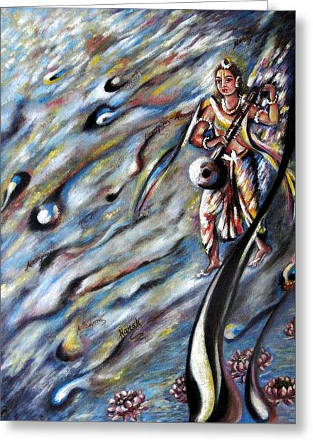 Narada Muni Greeting Card by Harsh Malik