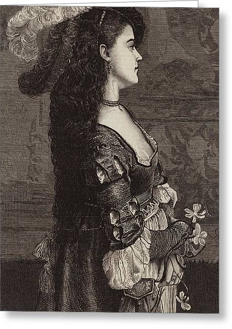 Narcissa Greeting Card by Gustave Jacquet