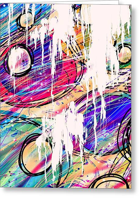 Hallucination Digital Greeting Cards - Narcotics of the Mind Greeting Card by Rachel Christine Nowicki