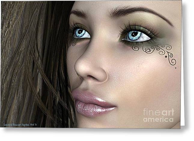 Tatoo Greeting Cards - Narelle Greeting Card by Sandra Bauser Digital Art