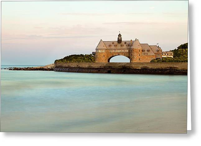 Ocean Art Photography Greeting Cards - Narragansett Towers Greeting Card by Photographs by Joules