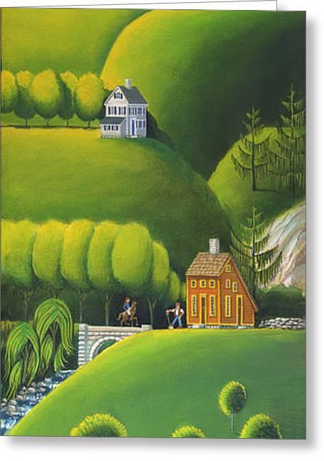 Stone Bridge Greeting Cards - Narrow Foothills Greeting Card by John Deecken
