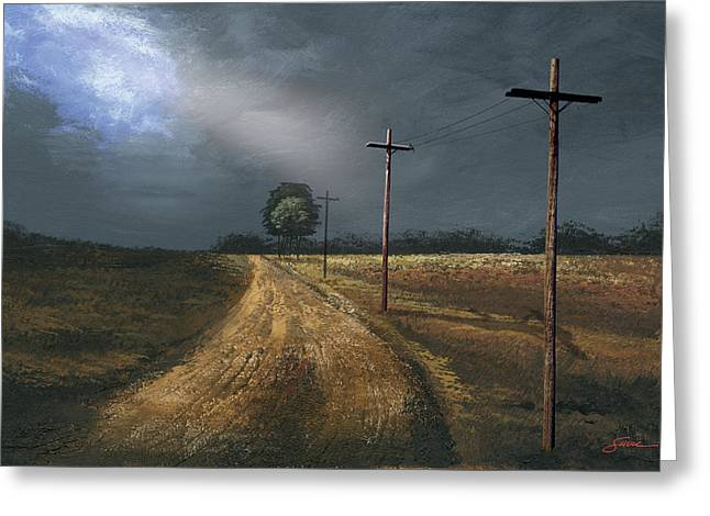 Harold Greeting Cards - Narrow Is The Road Greeting Card by Harold Shull