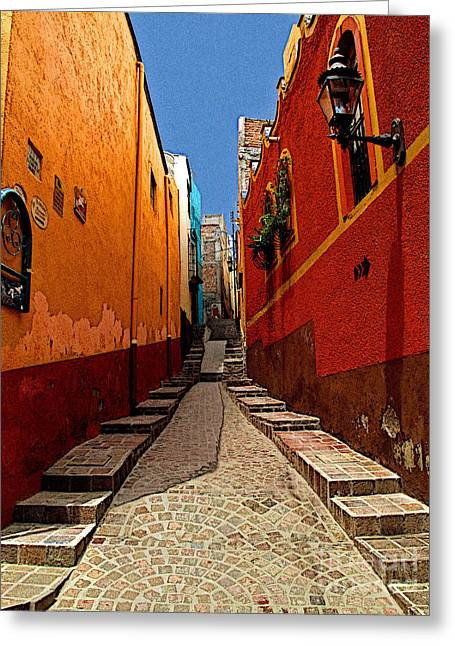 Portal Greeting Cards - Narrow Passage Greeting Card by Olden Mexico