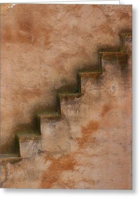 Rabat Greeting Cards - Narrow Stairs Greeting Card by Ramona Johnston