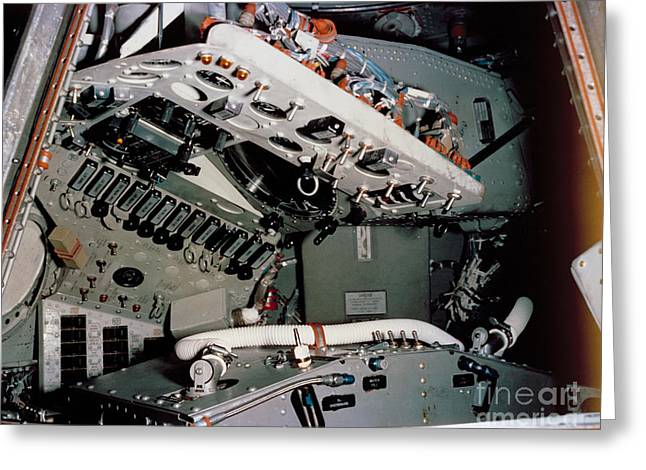 4th July Digital Greeting Cards - NASA 1961 View of Mercury spacecraft instrument control panels Greeting Card by R Muirhead Art