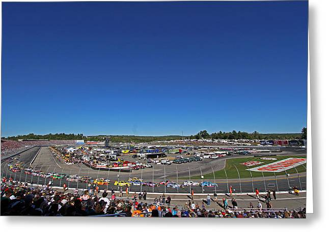 Nascar Greeting Card by Juergen Roth