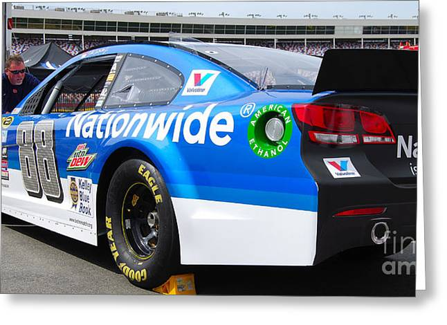 Dale Earnhardt Jr Greeting Cards - Nascar on Display Greeting Card by Mark Spearman