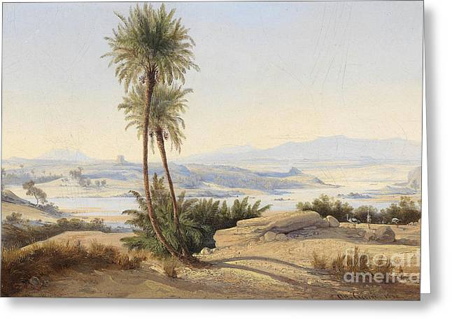 Naser In The Province Of Sukot Greeting Card by Friedrich Otto Georgi