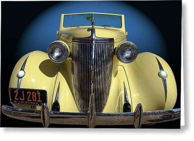 Cruisin For A Cure Greeting Cards - Nash Greeting Card by Bill Dutting