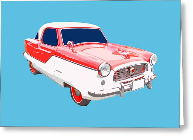 T Shirts Greeting Cards - Nash Metropolitan Tee Greeting Card by Edward Fielding