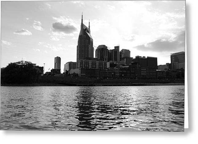 Tennessee River Greeting Cards - Nashville by Rivulet Greeting Card by Mose Mathis