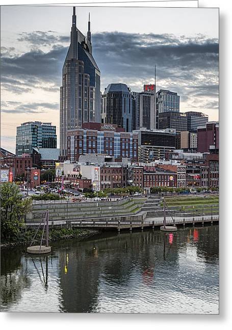 Nashville Tennessee Greeting Cards - Nashville Evening Greeting Card by Stephen Stookey