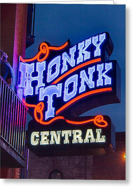 Nashville Tennessee Greeting Cards - Nashville Honky Tonk Central Greeting Card by Mike Burgquist