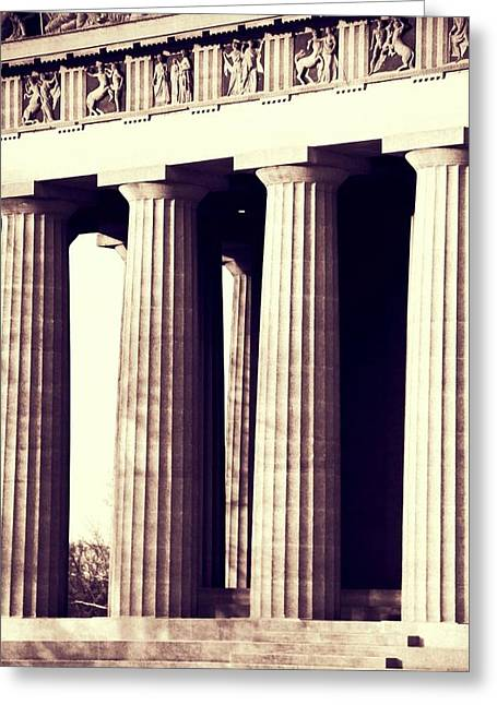 Nashville Parthenon Columns Greeting Card by Dan Sproul