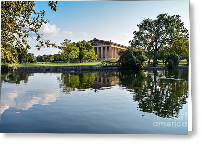 Nashville Tennessee Greeting Cards - Nashville Parthenon  Greeting Card by Debbie Green