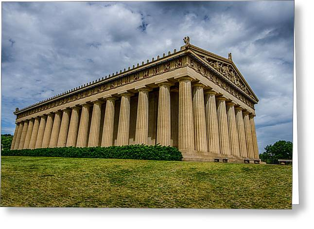 Nashville Greeting Cards - Nashville Parthenon Greeting Card by Mike Burgquist