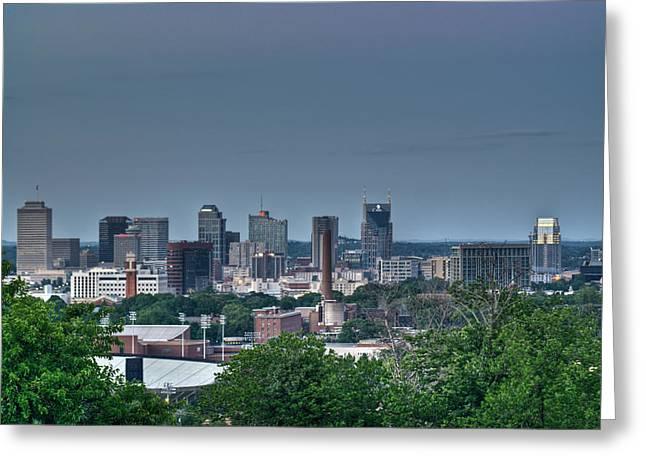 Nashville Tennessee Greeting Cards - Nashville Skyline 2 Greeting Card by Douglas Barnett