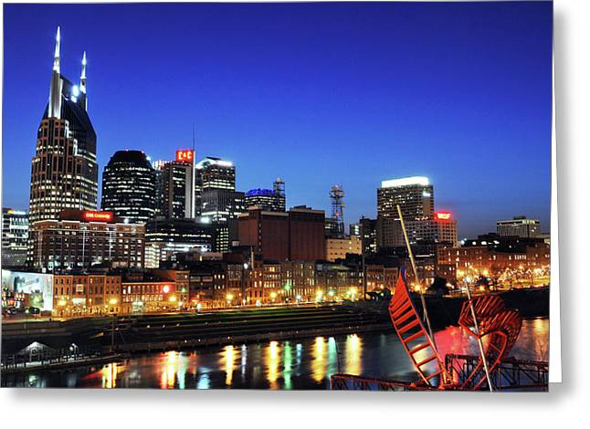 Nashville Downtown Greeting Cards - Nashville Skyline Greeting Card by Giffin Photography