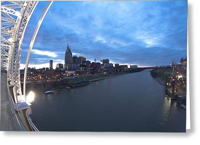 Nashville Skyline Greeting Cards - Nashville Skyline Greeting Card by Sven Brogren