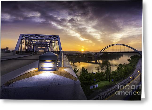 Nashville Tennessee Greeting Cards - Nashville Star - Large Greeting Card by Desmond Lake